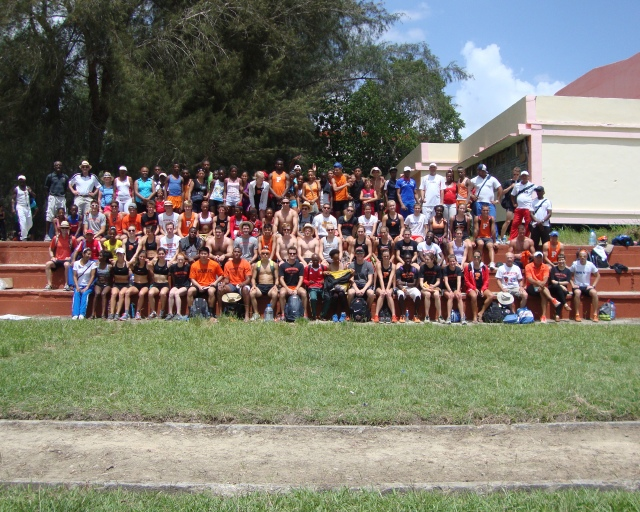 Princeton & Cuban Track Teams in Villa Clara